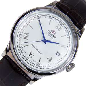 Orient 2nd Generation Bambino Automatic FAC00009W0 AC00009W Blue Hands/White Dial/Brown Strap Mens Watch £98.81 @ Amazon