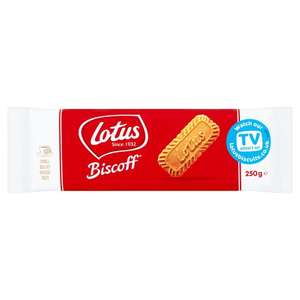 Lotus Biscoff Caramelised Biscuits 250g now only £1 @ Tesco