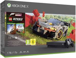Xbox One X 1TB with Forza Horizon 4 + LEGO Speed Champions + 1M Game Pass + 1M Xbox Live £269.95 @ Amazon France (£262 with fee free card)