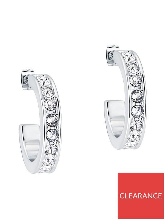 Seannia Crystal Hoop Earrings - Silver/Crystal £30 @ Very