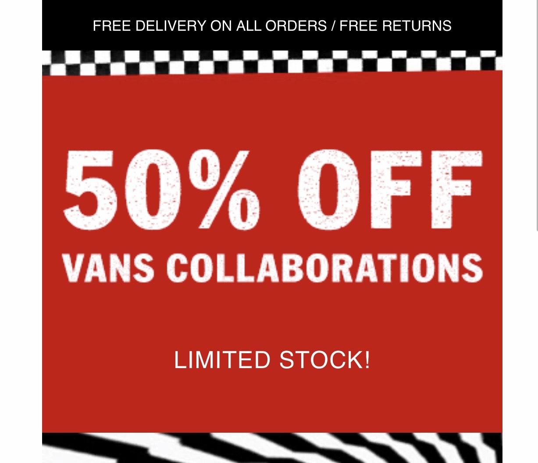 Vans Shop 50% Off e.g. Vans X Harry Potter™ GRYFFINDOR SK8-HI Shoes £40
