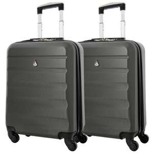 Set of 2 Aerolite (55x40x20cm) Lightweight Hard Shell Hand Luggage Cases £45 delivered with code @ Packed Direct