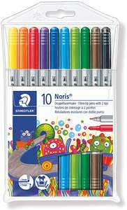 Staedtler Noris Club Double Ended Fibre Tips (Pack of 10) £2.50 @ Amazon (+£4.49 Non-prime)