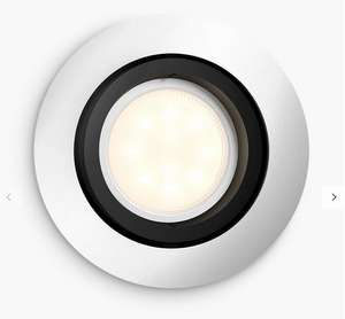 Philips Hue Milliskin Single Recessed Spotlight, Aluminium £20.99 + £2 C&C at John Lewis & Partners