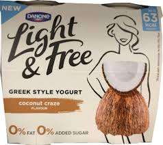 2 x 4 pack of Danone Light & Free Greek Style Yogurt - Coconut Craze. - £1 Heron Foods (Abbey Hulton)