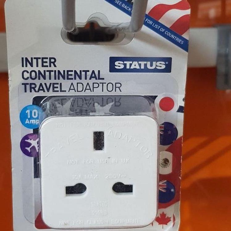 Status Intercontinental Travel adaptor 10 amp - 2p at Superdrug in Edinburgh airport
