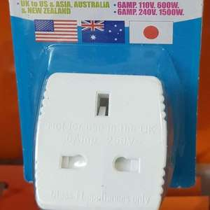 Love Travel UK to USA 6 amp Travel adapter 10p at Superdrug in Edinburgh airport