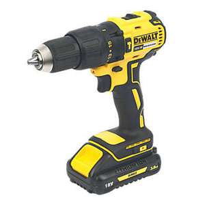 DeWalt DCD778L2T-SFGB 18V 3.0Ah Li-Ion XR Brushless Cordless Combi Drill with 2 x 3.0Ah Batteries £129.99 @ Screwfix