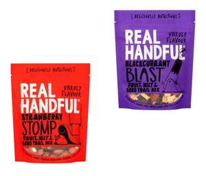 Real Handful Strawberry Stomp Fruit & Nuts 140g or Blackcurrant Blast Fruit Seed Mix 140g for £1 @ Tesco