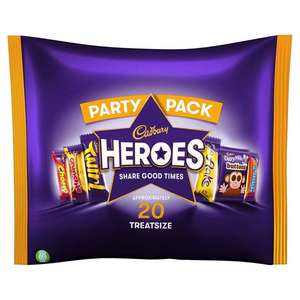 "Cadbury Heroes ""Treat""size approx 20 mini chocolates - 75p @ WHSmith (Manchester Arndale)"