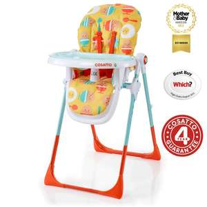 Cosatto Noodle Supa Highchair - Orange Egg & Spoon for £65.95 @ Online4Baby