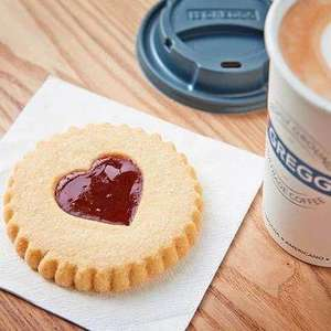 (Vodafone VeryMe) Get a free Jammy Heart Biscuit this Friday @ Greggs