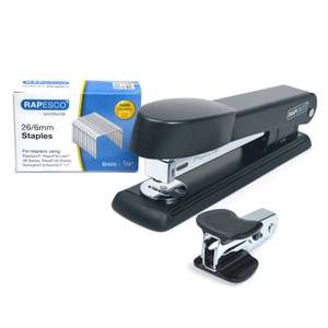 Rapesco 1471 Marlin Stapler with Staple Remover and 26/6 mm Staples B/5000, Black - Bundle now £4.99 (Prime) + £4.49 (non Prime) at Amazon