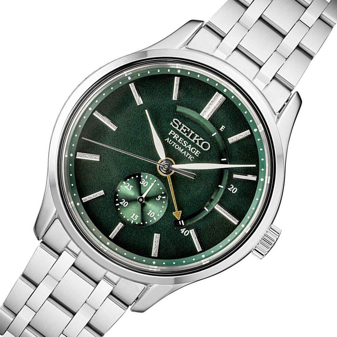 "Seiko Presage ""Zen Garden"" 42mm Automatic Bracelet Watch SSA397J1 4R57 Power Reserve, Green, Sapphire Crystal £359 @ Simpkins Jewellers"