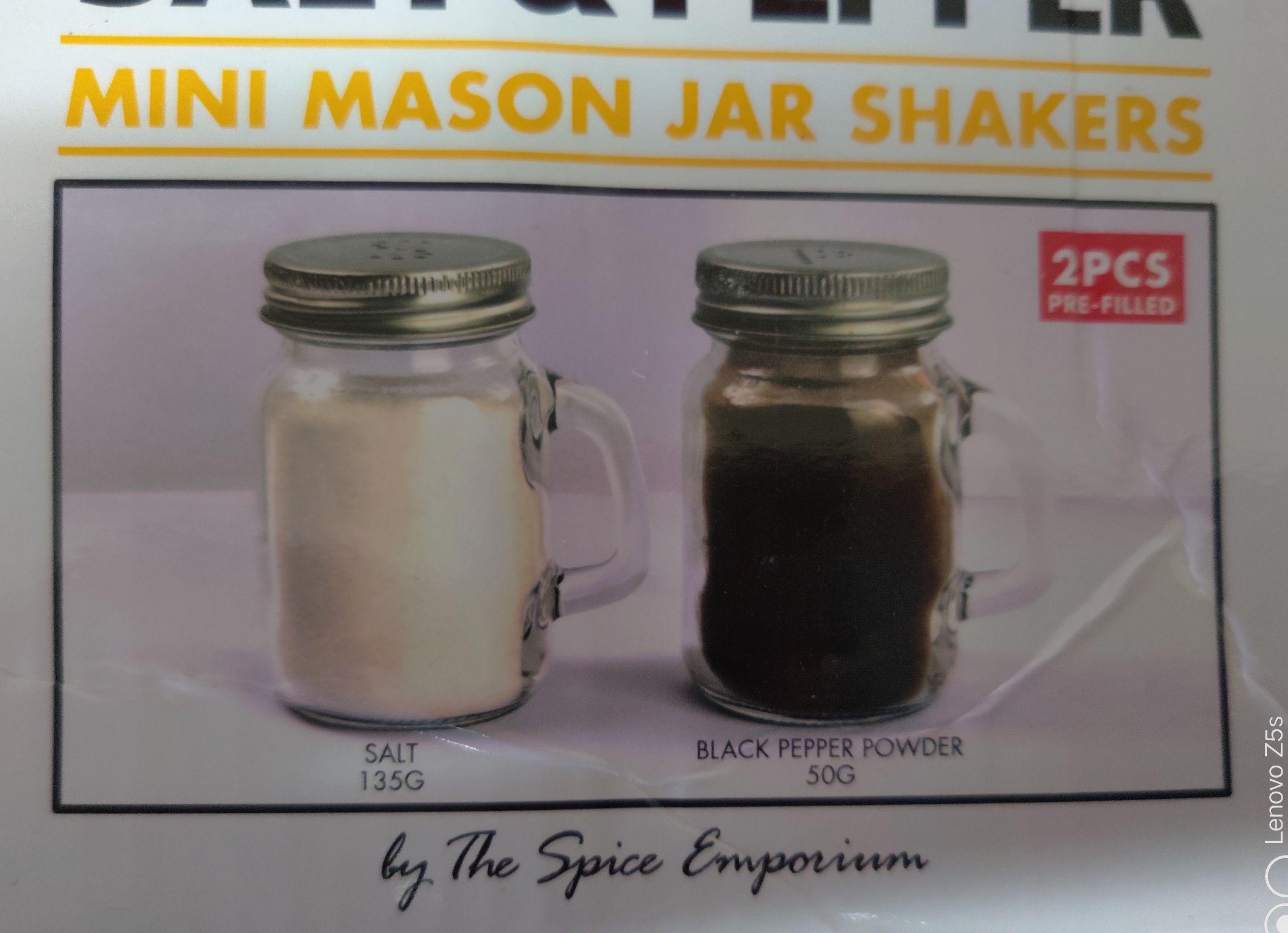 Mini Mason Jar Salt & Pepper set £1.50 in store @ B&M Stores (Stockton)