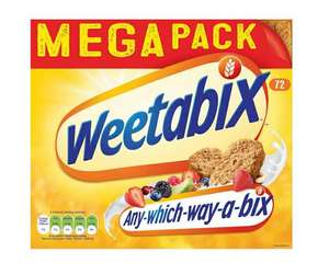 Weetabix 72 packs 2 for £10 @ Farmfoods