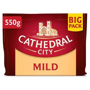 Cathedral City Mild / Mature / Extra Mature Cheddar 550G £3.50 at Tesco