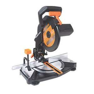 Evolution R210CMS 210MM Electric Single-Bevel Compound Mitre Saw 240V - £53.99 @ Screwfix (Free Click and Collect)