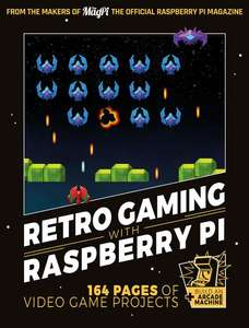 """Retro Gaming With the Raspberry Pi"" book with free delivery. £7 instead of £10 with code @ Raspberry Pi Shop"