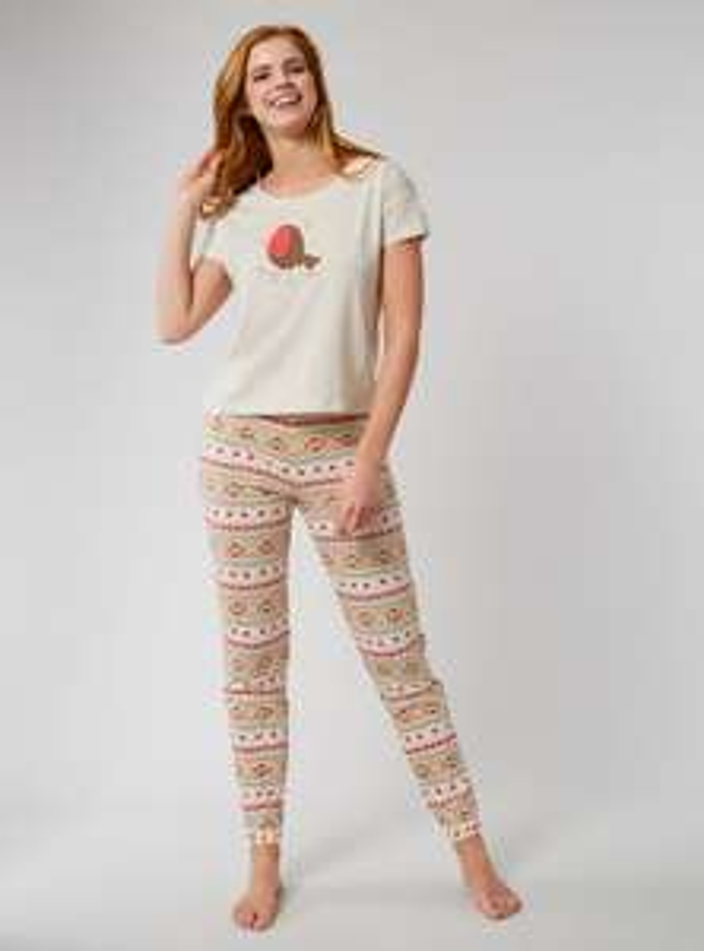 Robin Fairisle pyjama gift set £5 delivered with code @ Boux Avenue