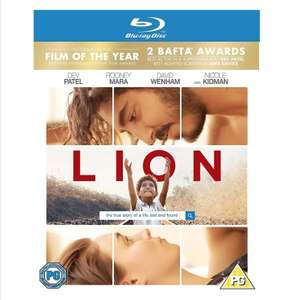 Lion Blu ray £3.83 prime £6.82 non prime at Amazon