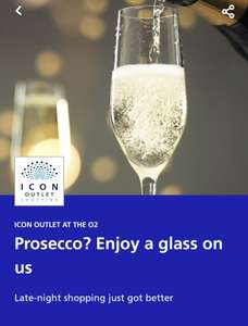 FREE Glass of Prosecco Every Friday and Saturday 6-10pm @ O2 Arena with O2 Priority