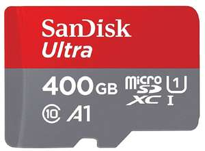 SanDisk Ultra 400 GB microSDXC Memory Card + SD Adapter with A1 App Performance Up to 100 MB/s, Class 10, U1 £48.99 Amazon