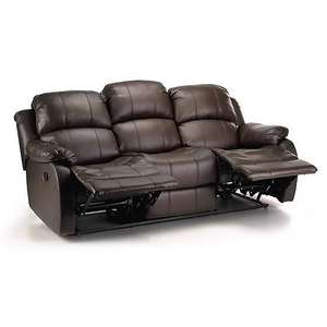 Anton Bonded Leather Reclining 3 Seater Sofa £370.30 + £9.95 delivery at Dunelm