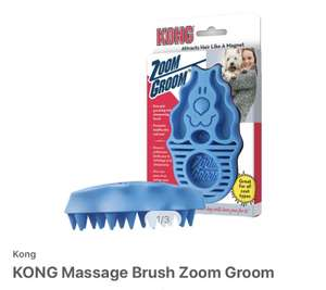 Kong Massage Brush for dogs £5.79 +£3.99 shipping at Zooplus
