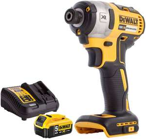 Dewalt DCF887N 18V Brushless Impact Driver with 1 x 5Ah DCB184 Battery + DCB115 Charger for £106.99 delivered @ Amazon