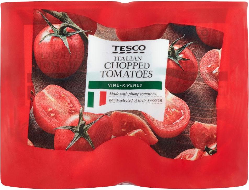 Tesco Italian Chopped Tomatoes 4x400g £1.32 instore
