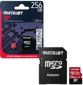 Patriot 256GB MicroSDXC Memory Card EP Series A1 V30 100MB/s for HD & 4K Video - £24.99 delivered @ 7dayshop