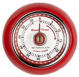 Eddingtons Magnetic Retro 60 minute Timer, Red or Ivory - £3.97 (prime) / £8.46(non prime) @ Amazon