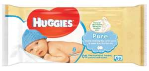 Huggies Pure Baby Wipes (x56) for 45p @ Robert Dyas (free click and collect)