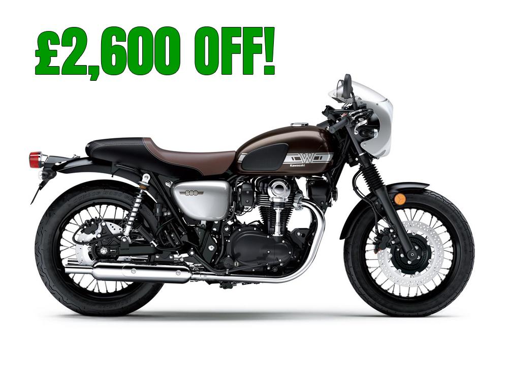 Kawasaki W800 Cafe Pre reg 0 miles - £6499 @ Onyerbike