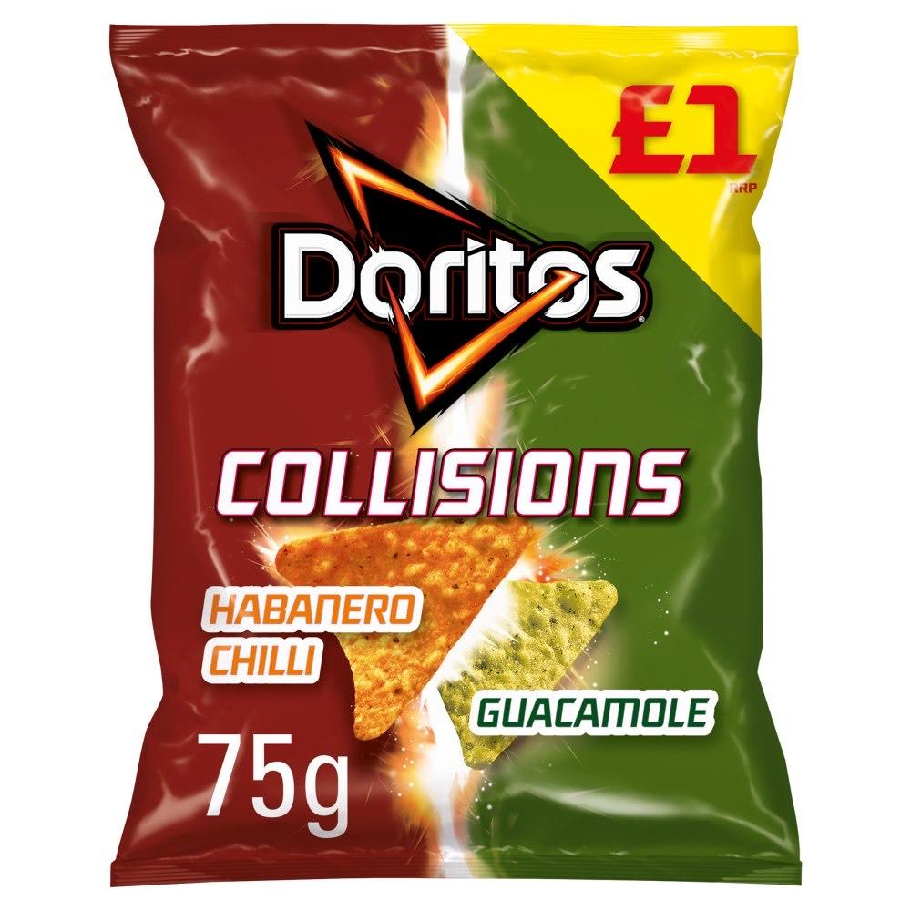 Doritos Collisions Habanero Chilli & Guacamole 75g (29p) @ Heron foods Nottingham