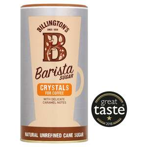Billingtons Barista Sugar Crystals + Sugar For Coffee 400G Half Price @ Tesco £1