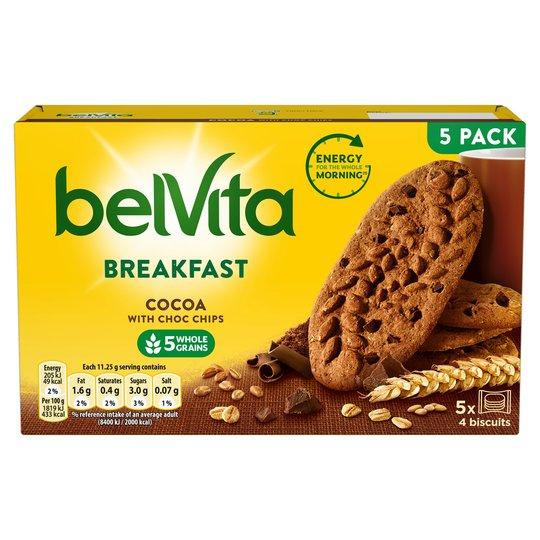 Belvita Biscuits 5 Packs 225g All Varieties Half Price Offer 99p @ Tesco