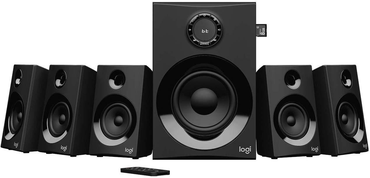 Logitech Z607 Wireless Bluetooth 5.1 Speaker System, Surround Sound £93.14 @ Amazon