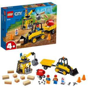 LEGO 60252 City Great Vehicles Construction Bulldozer Toy £14.40 + £4.49 NP @ Amazon