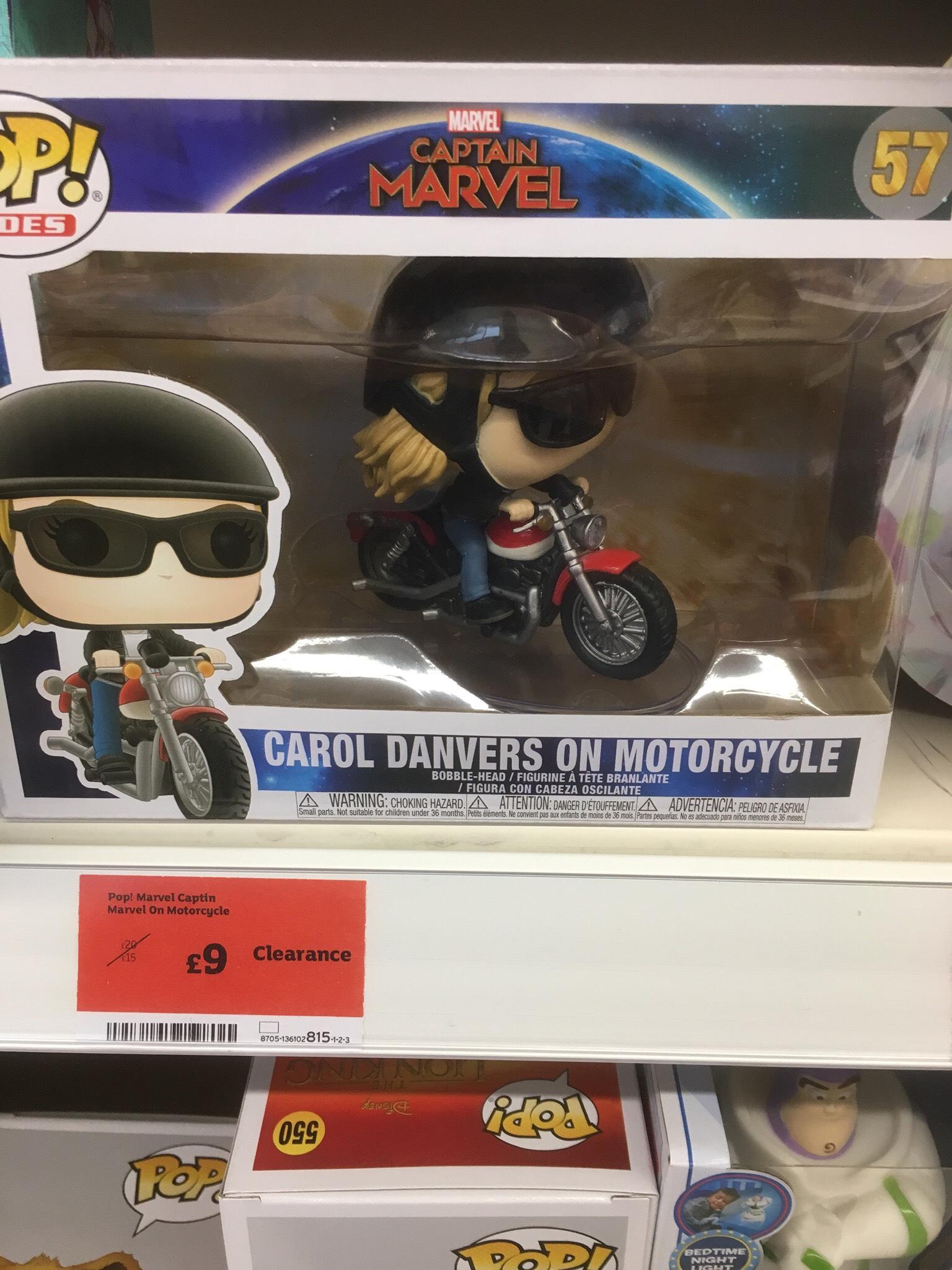 Pop Rides - Carol Danvers on Motorcycle £9 instore @ Sainsbury's Osmaston Park Road, Derby