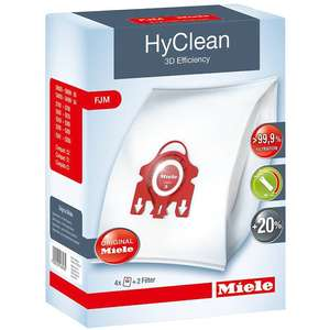 Miele Hyclean 3D Efficiency Dustbag Type FJM pack of 4 - £4.99 (free Click &Collect from their Warehouse) @ Marks Electrical