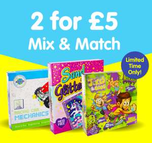 2 for £5 Mix and Match on Activity Sets £5 @ The Works - Free Click & Collect or £2.99 delivery