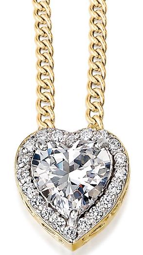 Heart Pendant Necklace - £69 @ Tru Diamonds