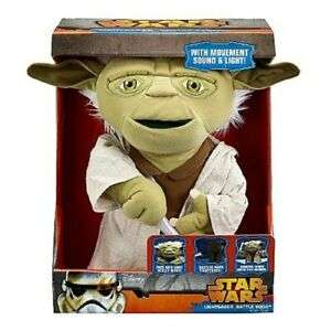 Star Wars Deluxe Interactive Lightsaber Yoda [Plush] £9.99 at Zoom / eBay