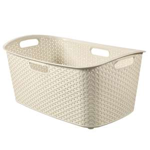 Robert Dyas - Curver Laundry Basket 47L- Grey/Cream £3.82 with code - Free C&C