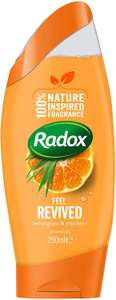 Radox Feel Revived 100 Percent Inspired by Nature Shower Gel Mood Enhancing 250 ml £6 + £4.49 NP @ Amazon (£5.70 S&S) for 6 bottles