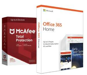 Microsoft Office 365 Home & McAfee Total Protection (6 Devices) for £39.99 @ Argos (Free C&C)