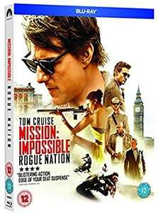 Mission impossible rogue nation blu ray £2.48 sold by D&B entertainment fulfilled by Amazon (£2.99p&p non prime)