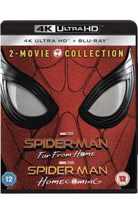 Spider-Man Far From Home & Homecoming 2 Movie Collection 4K blu-Ray £25 Amazon